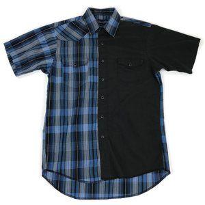 Wrangler Black/Blue Plaid Colorbock Pearl Snap
